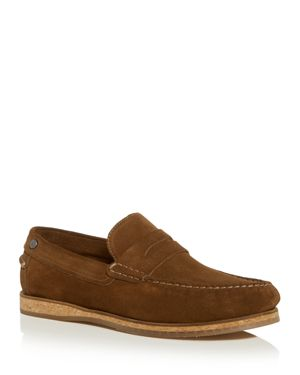 PENGUIN Men'S Charles Suede Moc-Toe Penny Loafers in Tobacco