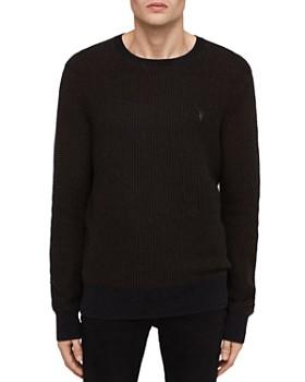 ALLSAINTS - Charter Waffle-Knit Cotton & Wool Crewneck Sweater
