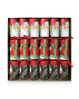 Caspari - Santa Claus Lane Christmas Crackers, Set of 6