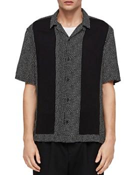 ALLSAINTS - Grid-Checked Slim Fit Camp Shirt