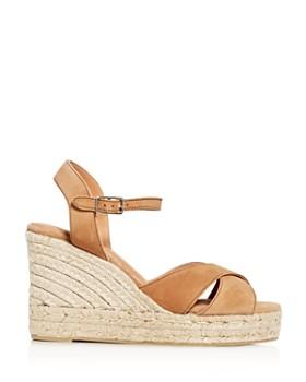 Castañer - Women's Crisscross Platform Wedge Espadrille Sandals