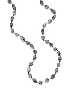 """Ela Rae - Diana Necklace in Black Rhodium-Plated Sterling Silver, 42"""""""