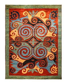"Solo Rugs - Arts & Crafts Toulon Hand-Knotted Area Rug, 2' 9"" x 8' 0"""