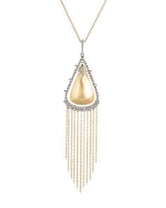 "Alexis Bittar - Crystal Tassel Pendant Necklace, 32"""