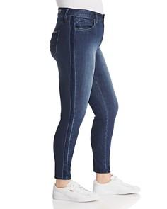 Seven7 Jeans Plus - Ultra High-Rise Velvet-Stripe Skinny Jeans Cherish