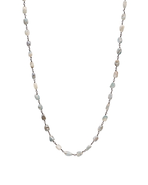 Ela Rae Diana Necklace in Black Rhodium-Plated Sterling Silver, 42
