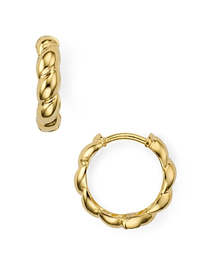 Argento Vivo Rope-Effect Huggie Hoop Earrings in 14K Gold-Plated Sterling Silver or Sterling Silver