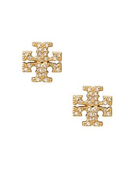 69d961ba5 Tory Burch - Crystal Logo Stud Earrings ...
