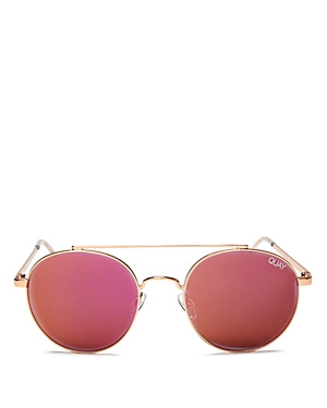 Quay Women's Outshine Brow Bar Round Sunglasses, 50mm