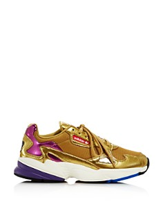 Adidas - Women's Falcon Metallic Lace-Up Sneakers