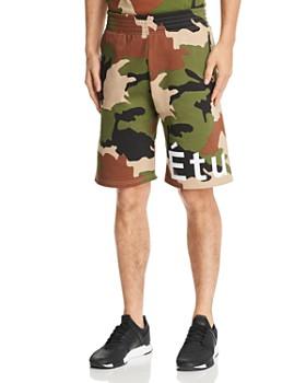 Etudes - Tempera Camouflage-Print Logo Shorts