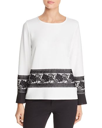 KARL LAGERFELD Paris - Lace Trim Top