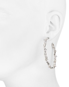Alexis Bittar - Crystal Baguette Hoop Earrings