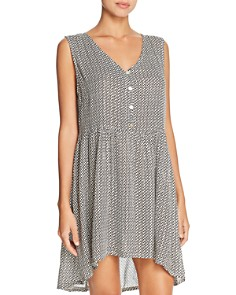 J. Valdi - Gold Coast Button Up Tunic Dress Swim Cover-Up
