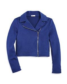 Sally Miller - Girls' Knit Moto Jacket - Big Kid