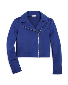 Sally Miller - Girls' Knit Moto Jacket - Big Kid