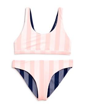 Splendid - Girls' Reversible 2-Piece Swimsuit, Big Kid - 100% Exclusive