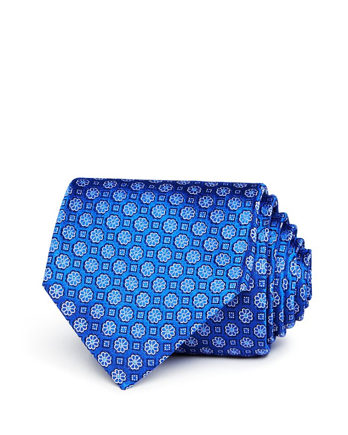 The Men's Store at Bloomingdale's - Flower-Square Silk Classic Tie - 100% Exclusive