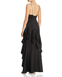 Avery G - Satin Ruffled Gown