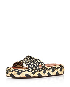 Clergerie - Women's Alize Raffia Slide Sandals