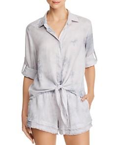 Bella Dahl - Tie-Front Tie-Dye Shirt