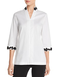 Misook - Soutache-Trim Shirt