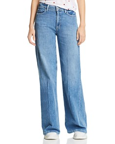 PAIGE - Sutton Wide-Leg Jeans in Amor - 100% Exclusive