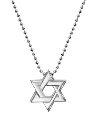 ALEX WOO Little Faith Star Of David Pendant Necklace In Sterling Silver, 16
