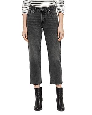 Allsaints Ava Rigid Cropped Straight-Leg Jeans in Vintage Black