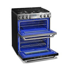 LG - SIGNATURE Smart Wi-Fi-Enabled Gas Double Oven Slide-In Range with ProBake Convection® #LUTG4519SN