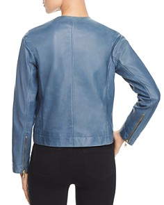 Donna Karan - Cropped Leather Jacket