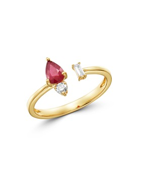 4854242d2cd12e Bloomingdale's - Ruby & Diamond Open Ring in 14K Yellow Gold - 100%  Exclusive ...