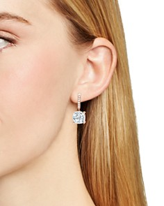 Crislu - Cushion-Cut Earrings in 18K Gold-Plated Sterling Silver, 18K Rose Gold-Plated Sterling Silver or Platinum-Plated Sterling Silver
