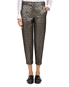 The Kooples - Maple Cropped Metallic Jacquard Pants