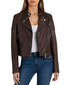 BAGATELLE.NYC - Quilted Leather Moto Jacket