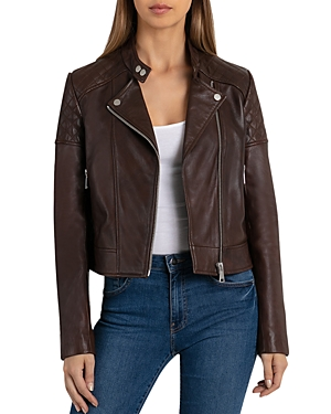 Bagatelle.nyc BAGATELLE. NYC QUILTED LEATHER MOTO JACKET
