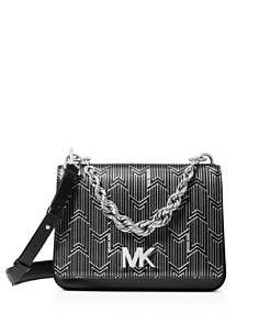 MICHAEL Michael Kors - Matt Chain Leather Shoulder Bag