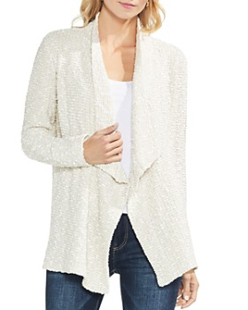 VINCE CAMUTO - Textured Open Cardigan