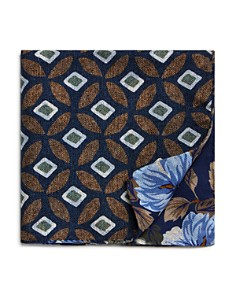 The Men's Store at Bloomingdale's - Floral/Medallion Reversible Pocket Square - 100% Exclusive