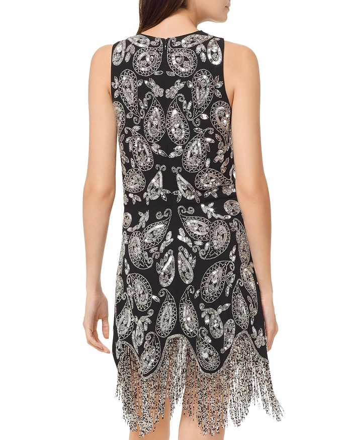 3aabfbacbf4 MICHAEL Michael Kors MICHAEL Paisley Embellished Fringe Dress ...