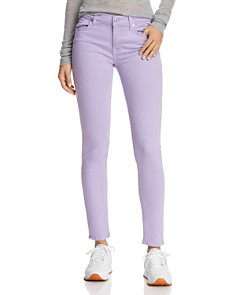 7 For All Mankind - Ankle Skinny Jeans in Soft Lilac
