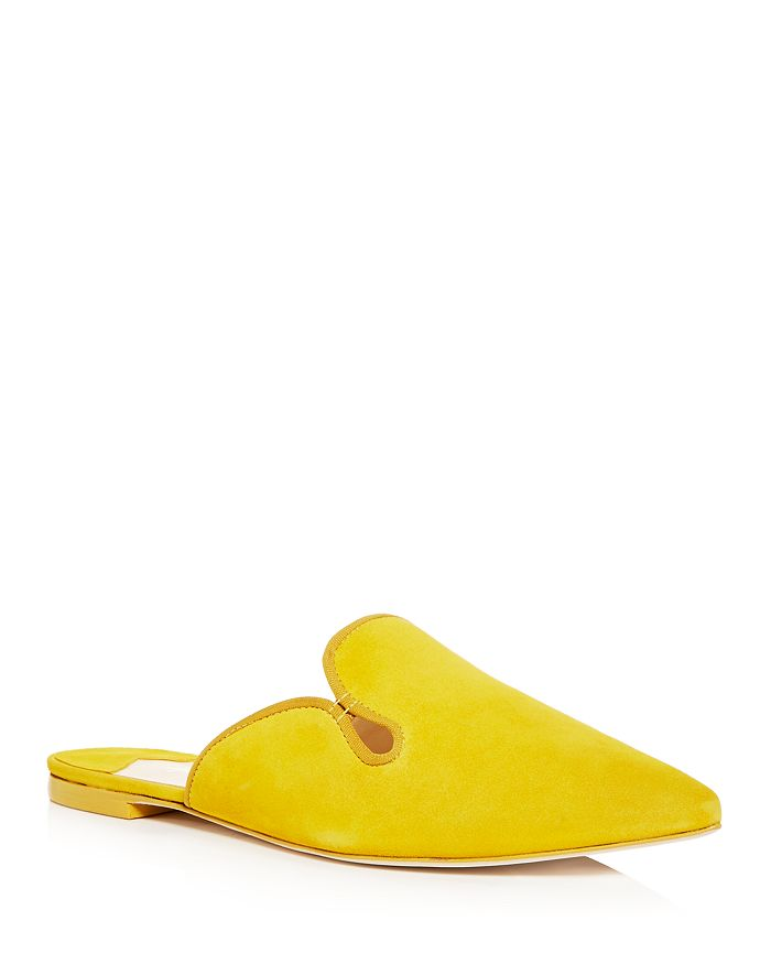 Isa Tapia - Women's Canova Pointed Toe Suede Mules