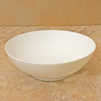 JL Coquet - Hemisphere White Soup Bowl, Small