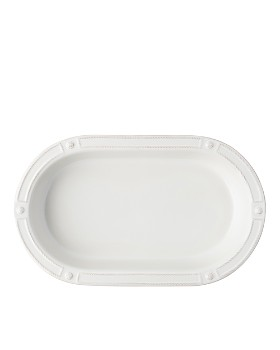 "Juliska - Berry & Thread French Panel Whitewash 17"" Oval Baking Dish"