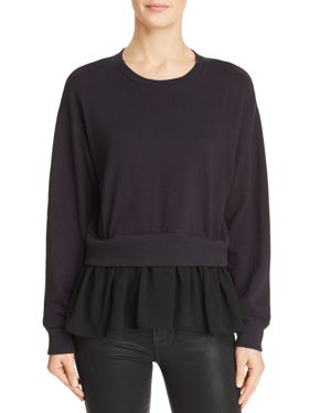 MICHELLE BY COMUNE Michelle By Comune Layered-Look Sweatshirt in Black