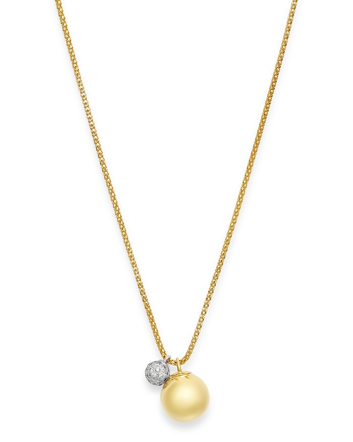 Bloomingdale's - 14K Yellow Gold Diamond Bead Pendant Necklace, 1.1 ct. t.w. - 100% Exclusive