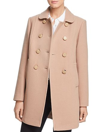 kate spade new york - Double-Breasted Button Front Twill Coat