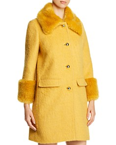 kate spade new york - Faux-Fur Collar Coat