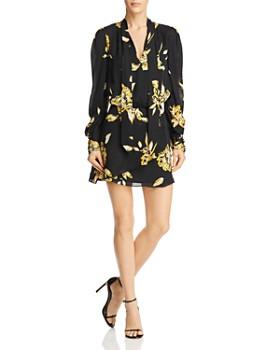 Joie - Gyan Silk Tie-Neck Dress