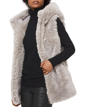 MICHAEL Michael Kors - Shearling Hooded Vest